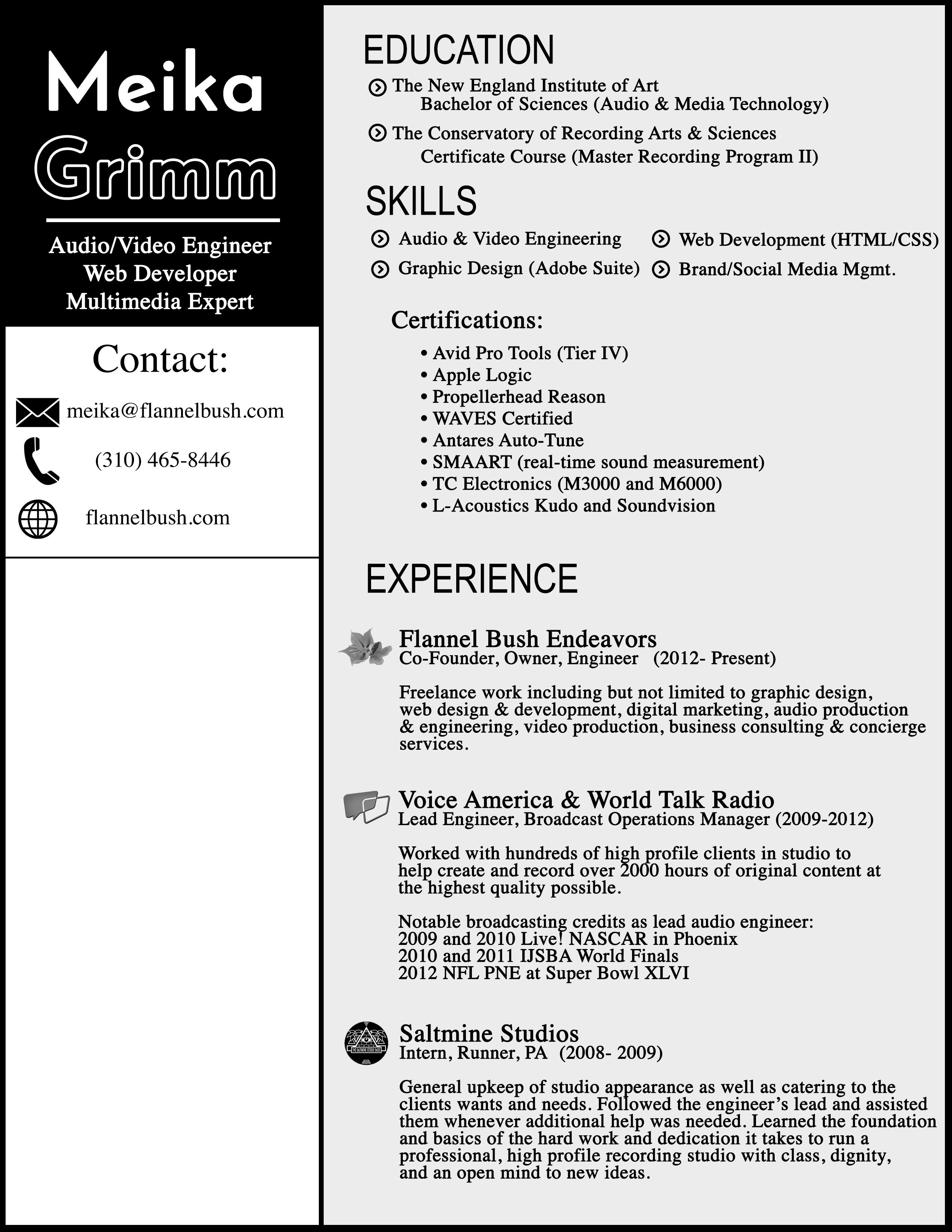 Resume | Meika Grimm